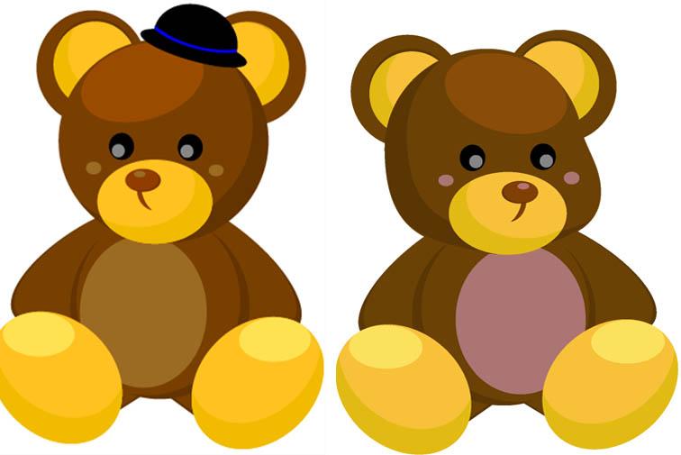 Картинки два медведя для детей